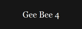 Gee Bee 4
