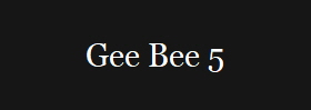 Gee Bee 5